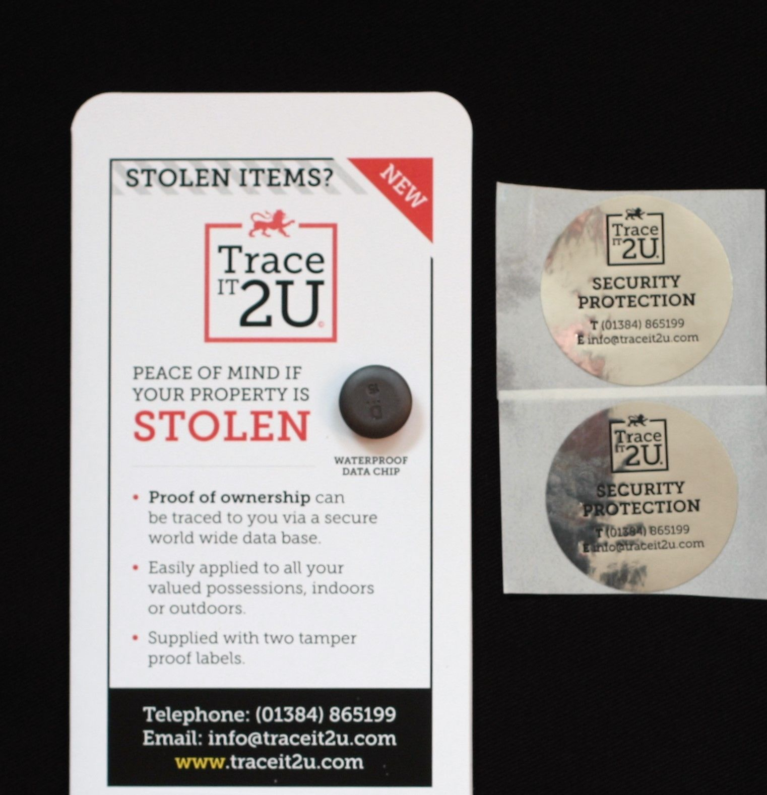 Trace It 2U for Truckers This is a theft deterent for your Tools etc    -  Traces it back to you!