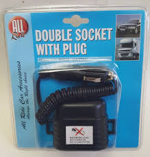 IN CAR POWERSOCKET CIGERETTE ADAPTOR DUAL TWIN DOUBLE UK FOR CAR CHARGER